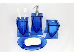 Beach Glass Bath Accessories by Attractive Liang Thing Ocean Blue Glass 4 Piece Bath Set Bathroom
