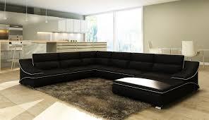 canapé d angle cuir design deco in canape d angle en cuir noir et blanc design roxane