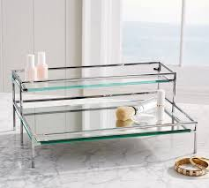 Pottery Barn Bathroom Accessories by Mirrored Makeup Storage Pottery Barn