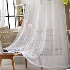 moderne einfache weiße gitter bildschirm wohnzimmer schlafzimmer vorhang tüll wohnzimmer vorhänge gardinen 084