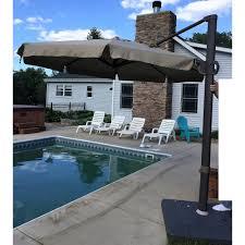 Offset Patio Umbrellas Menards by Replacement Canopy For 2014 11ft Offset Umbrella Garden Winds