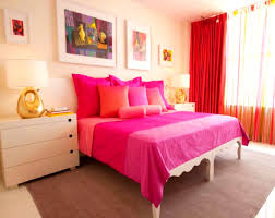 Bedroom Ideas For Young Adults by Vintage Bedroom Ideas For Young Adults With Red Curtains And Pink