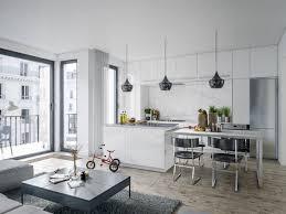 cuisine blanche ouverte sur salon 1001 idées pour aménager une cuisine ouverte dans l air du temps