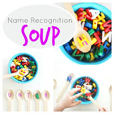 Name Recognition Soup Munchkins and Moms
