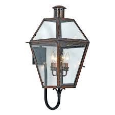 shop quoizel rue de royal 29 in h aged copper outdoor wall light