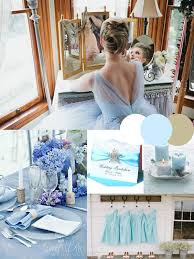 Hot Ice Blue Silver White Winter Wedding Colors Ideas
