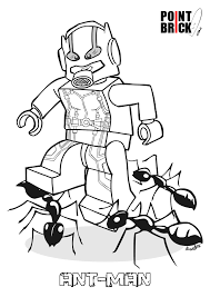 Lego Ant Man Coloring Pages Sketch Page