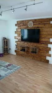 hout achter de tv wohnzimmer ideen projekte aus altholz