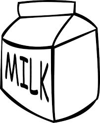 Small Milk Carton Black And White