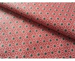 toile coton impermeable au metre coton enduit japonais fraise au mètre pour nappes