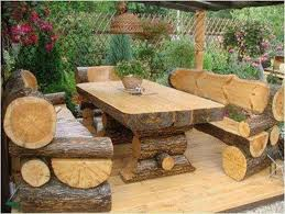 DIY Rustic Patio Furniture Plans Ideas 9