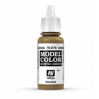 Vallejo Model Color Acrylic Paint - 17ml, Green Brown