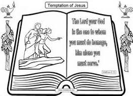 Coloring Pages Jesus Being Tempted Allcoloredcom