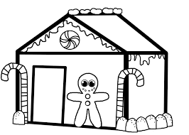 Image Of Christmas Gingerbread House Coloring Pages