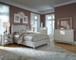 Hollywood Loft Upholstered Bedroom Set in Pearl by Michael Amini