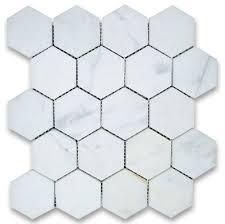 12 25 x10 75 calacatta gold hexagon mosaic tile honed chip size