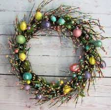 Primitive Easter Home Decor by Primitive Easter Egg Wreath Front Door Decor Free Shipping