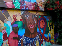 Balmy Alley Murals Mission District by Whitney Houston Memorial Mural Murals Pinterest Mission