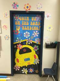Scholastic Book Fair Reading Feeling Groovy Bulletin Class Classroom Door Decoration 70s