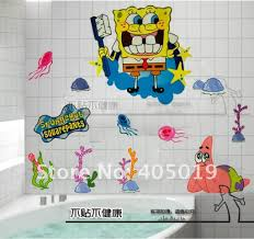 Spongebob Bathroom Decorations Ideas by Decorating Ideas Beige Stain Wall With Spongebob Wall Ornament