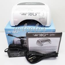 gelish harmony 18g plus 36 watt led gel light for curing manicures