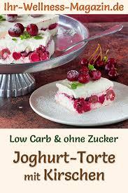 low carb joghurttorte mit kirschen ohne backen rezept ohne
