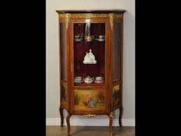 Curved Glass Curio Cabinet Antique by A French Curved Glass Vitrine Or Curio Display Cabinet From The