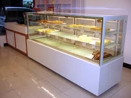 New Right Angle Cake Showcase Refrigerated Bakery Display Case