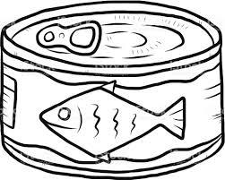 Sardines clipart black and white 1