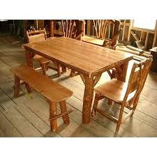 Rustic Cherry Furniture Captivating Wood Sassafras Log Table