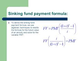 Define Annual Sinking Fund by 3 3 Future Value Of An Annuity Sinking Funds An Annuity Is Any
