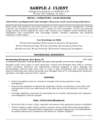 Retail Manager Resume And Operations