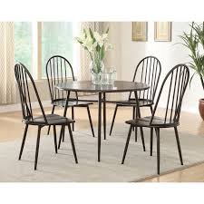 Furniture Of America Metelika Piece Windsor Dining Set Matte Black ... Oak Round Ding Table In Brown Or Black Garden Trading Extending Vintage And Coloured With Tables Glass Square Wood More Amart Fniture Serene Croydon Set 4 Marlow Faux Leather Eaging Solid Walnut And Chairs White Outdoor Winston Porter Fenley Reviews Wayfair Impressive 25 Levualistecom Amish Merchant Oslo Ivory Leather Modern Direct Rhonda In Blacknight Oiled Woood Cuckooland Chair Seats Round Extending Ding Table 6 Chairs Extendable