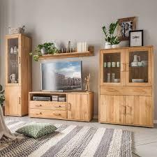 hochwertige wohnzimmer möbel in eiche teano 4 teilig