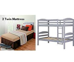 Mainstays Bunk Bed by Amazon Com Sturdy Mainstays Twin Over Twin Wood Bunk Bed With