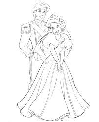 Download Disney Princess Ariel Was Wearing Dress Coloring Page Or