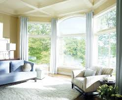 Modern Window Curtains For Living Room by Window Treatment Ideas For Bay Windows