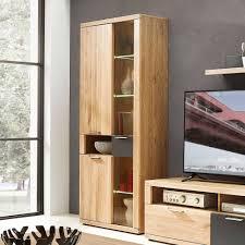 80x199x37 wohnzimmerschrank mit glas led jalzico