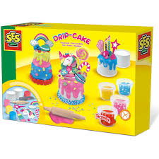 ses creative tropfkuchen aus knete bastelset kreativset kuchen backen glitzer