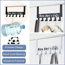 details zu stahl tür hinter den badezimmer schlafzimmer 6 haken rack aufbewahrung hängend s