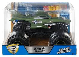 100 Shark Wreak Monster Truck Hot Wheels Jam Shock DieCast Vehicle 124 Scale