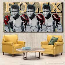 100 Pop Art Home Decor 2019 MUHAMMAD ALI URBAN POP ART Wall Canvas Painting Wall Pictures Print For Living Room Pictures No Frame From Wallstickerworld