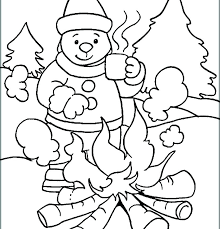 Free Winter Coloring Pages Sports Sheets Printable Snowman