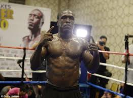 Berto Former Two Time Welterweight World Champion Poses During A Media Workout In