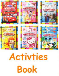 ACTIVITY BOOK Games Stickers Coloring Book TSUMTSUM PawPatrol Zootopia AVENGERS RobocarPOLI