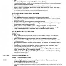 Software Engineering Manager Resume Samples
