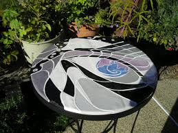 handmade ceramic tile bistro table breakfast table mosaic