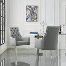 Marilyn Dining Chair (Set Of 2) 51 Grey Ding Rooms With Tips To Help You Decorate And Charlie Swoop Arm Chair Image 2 Of 3 Bridal Booth Silver Velvet Accent With Nailhead Trim Pier 1 Cheap Upholstered Find Home Designing Iconic Home Gourdon Plush Gold Tone Solid Metal Legs Details About New Urban Style Chairs Sofa Side W Wood Fniture Lyric Counter Stool Tufted Seat Tapered Amazoncom Lattice Indigo Kitchen Ottoman 3d Product Models Herman Miller Leather Deals