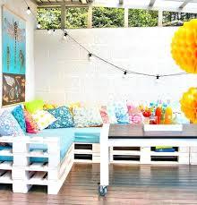 fabriquer coussin canapé fabriquer coussin exterieur salon de jardin palettes terrasse