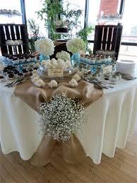 Stunning Vintage Cake Table Decor Rustic Wedding Dessert Used Burlap Runner
